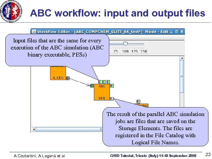ABC workflow: input and output files Input files that are the same for every