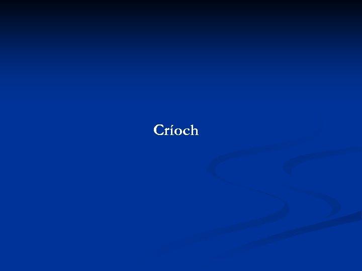Críoch