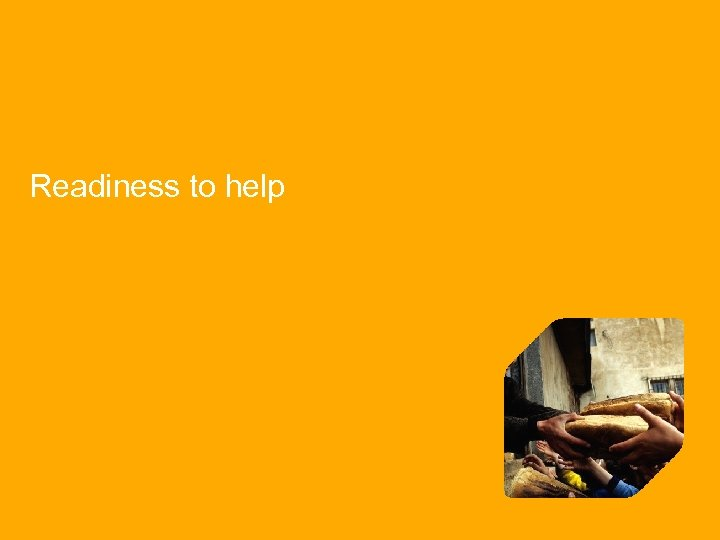 Readiness to help