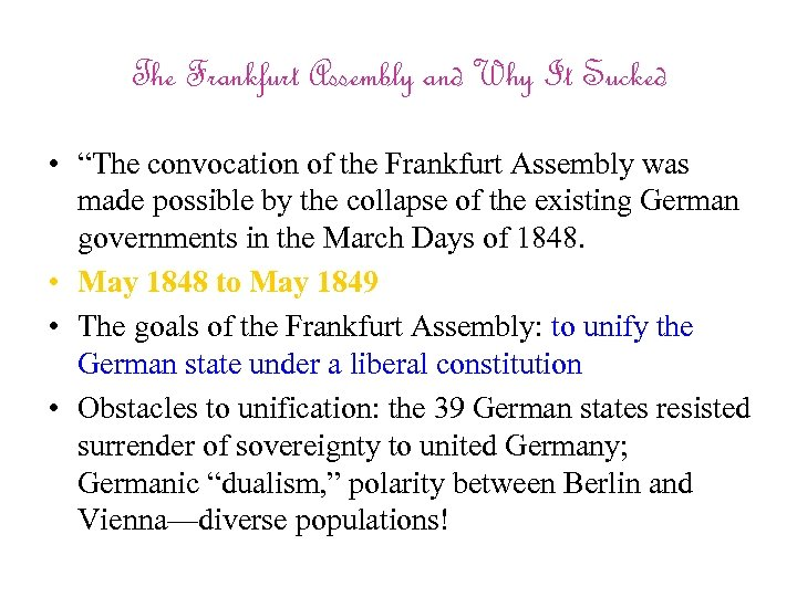 """The Frankfurt Assembly and Why It Sucked • """"The convocation of the Frankfurt Assembly"""