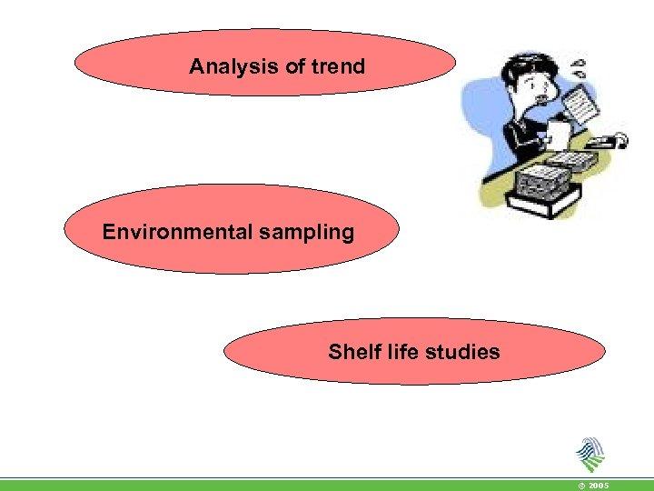 Analysis of trend Environmental sampling Shelf life studies © 2005