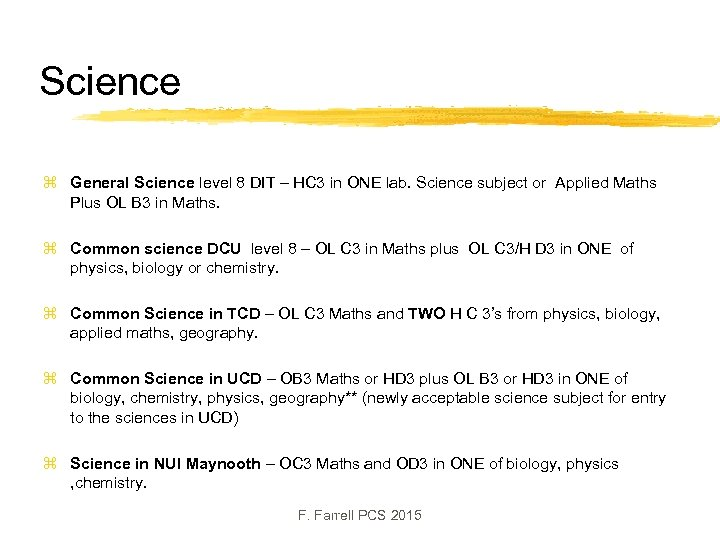 Science z General Science level 8 DIT – HC 3 in ONE lab. Science