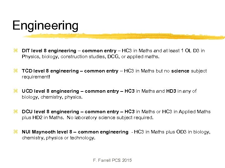 Engineering z DIT level 8 engineering – common entry – HC 3 in Maths