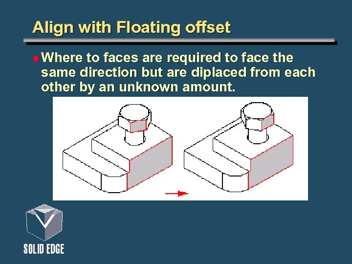 Align with Floating offset l Where to faces are required to face the same