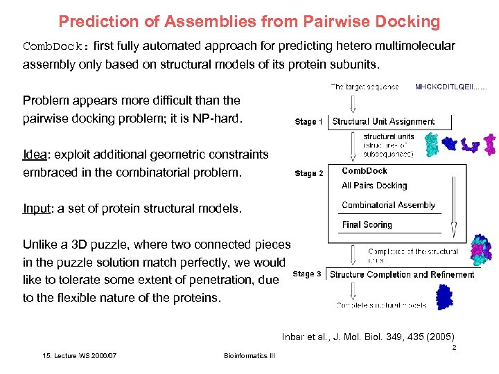 Prediction of Assemblies from Pairwise Docking Comb. Dock: first fully automated approach for predicting