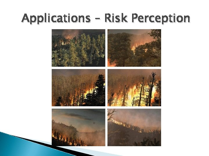Applications – Risk Perception