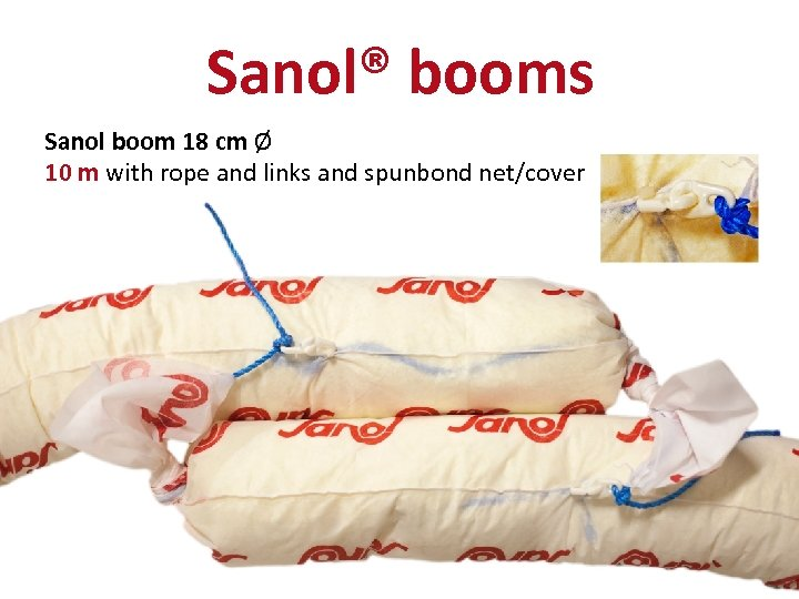 Sanol® booms Sanol boom 18 cm Ø 10 m with rope and links and