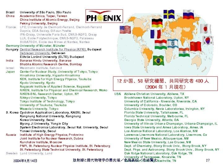 Brazil China University of São Paulo, São Paulo Academia Sinica, Taipei, Taiwan China Institute
