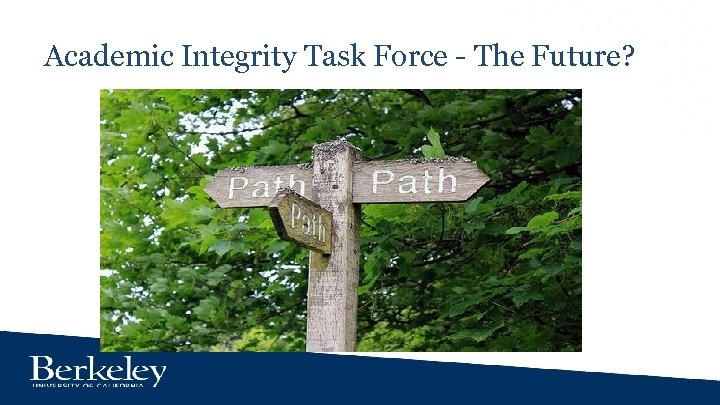 Academic Integrity Task Force - The Future?
