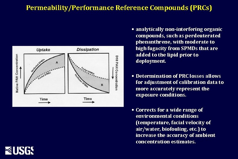 Permeability/Performance Reference Compounds (PRCs) • analytically non-interfering organic compounds, such as perdeuterated phenanthrene, with