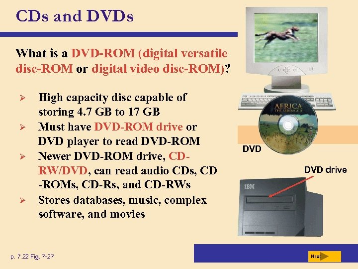 CDs and DVDs What is a DVD-ROM (digital versatile disc-ROM or digital video disc-ROM)?