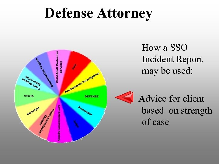 Defense Attorney How a SSO Incident Report may be used: Advice for client based