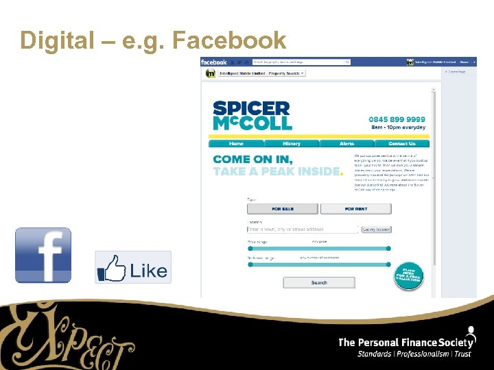 Digital – e. g. Facebook