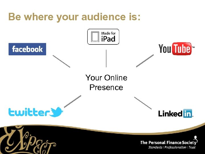 Be where your audience is: Your Online Presence