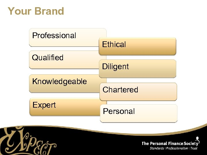 Your Brand Professional Ethical Qualified Diligent Knowledgeable Expert Chartered Personal