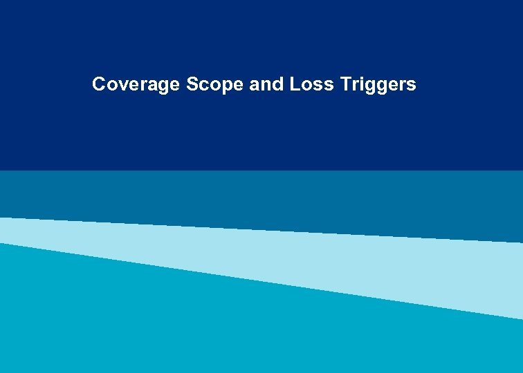 Coverage Scope and Loss Triggers
