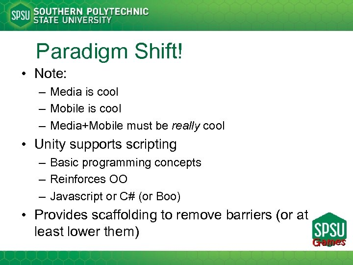 Paradigm Shift! • Note: – Media is cool – Mobile is cool – Media+Mobile
