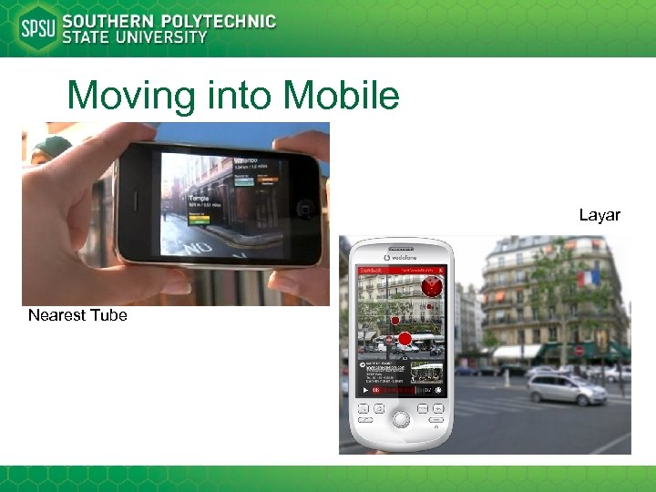 Moving into Mobile Layar Nearest Tube