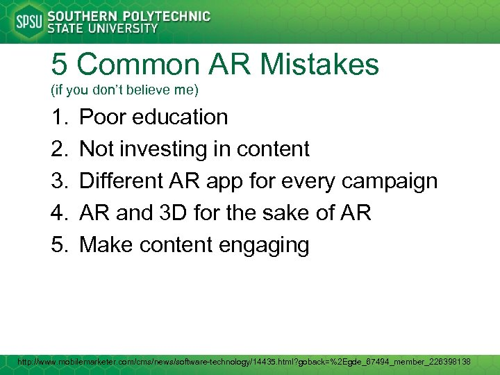 5 Common AR Mistakes (if you don't believe me) 1. 2. 3. 4. 5.