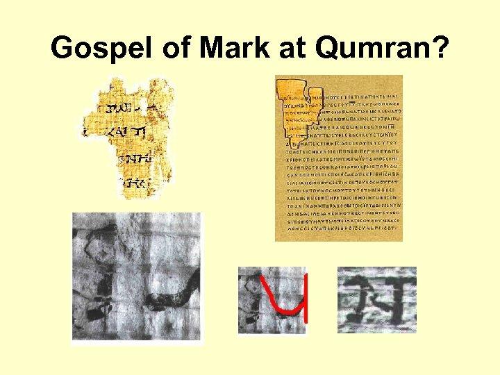 Gospel of Mark at Qumran?