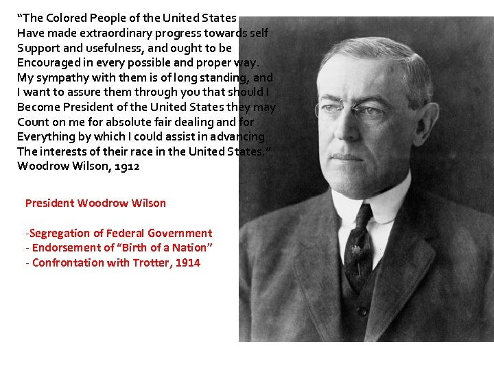 """""""The Colored People of the United States Have made extraordinary progress towards self Support"""