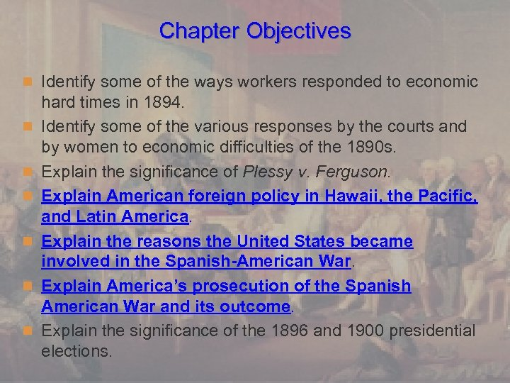 Chapter Objectives n Identify some of the ways workers responded to economic n n