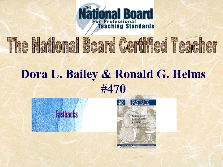 Dora L. Bailey & Ronald G. Helms #470