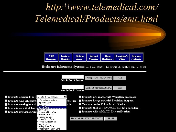 http: \www. telemedical. com/ Telemedical/Products/emr. html