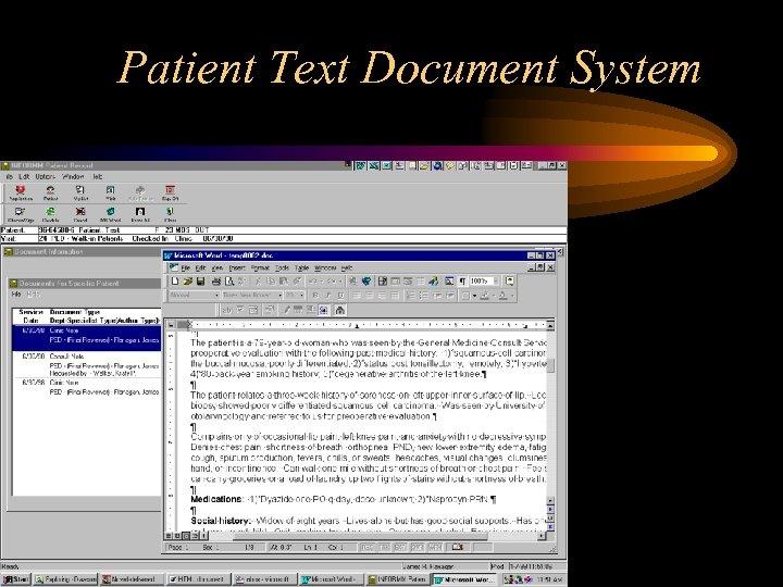 Patient Text Document System