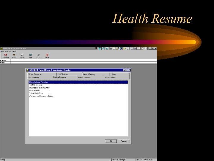 Health Resume