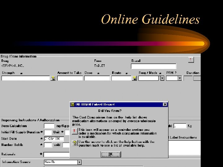 Online Guidelines