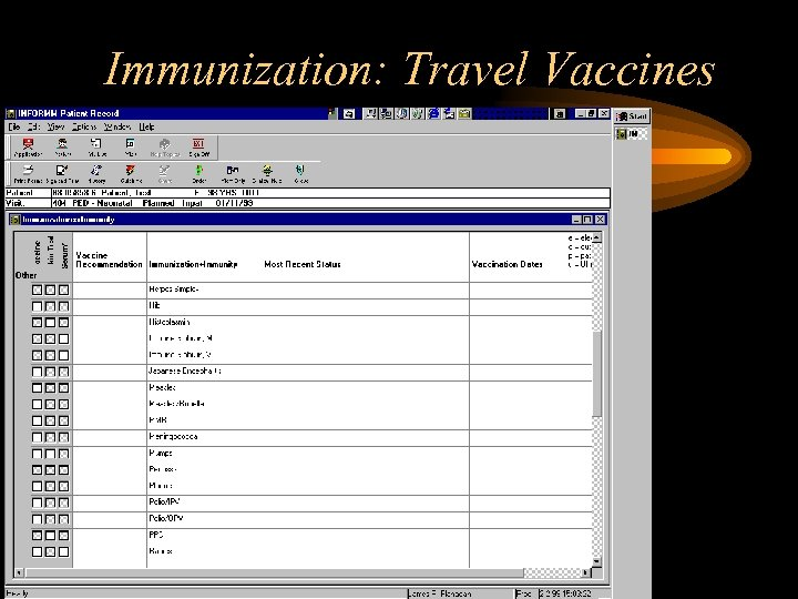 Immunization: Travel Vaccines