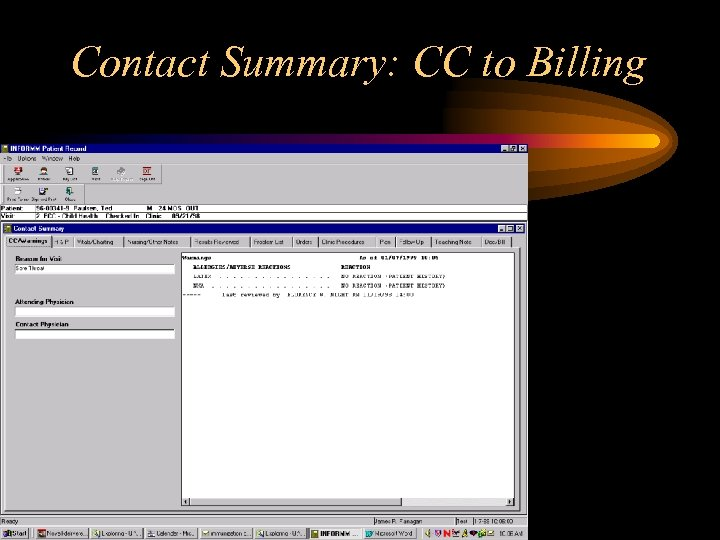 Contact Summary: CC to Billing