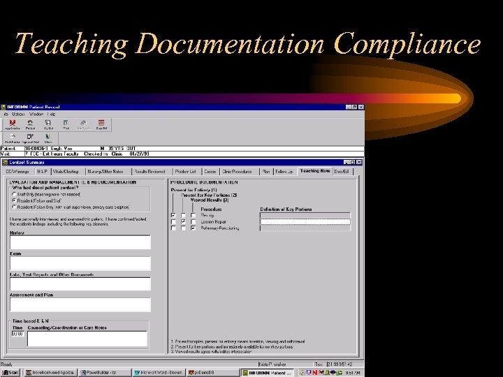 Teaching Documentation Compliance