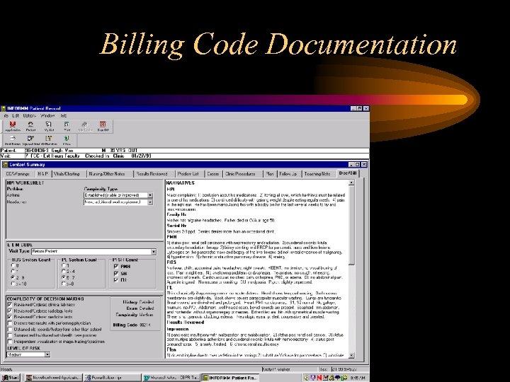 Billing Code Documentation