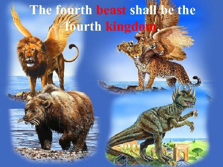 The fourth beast shall be the fourth kingdom.