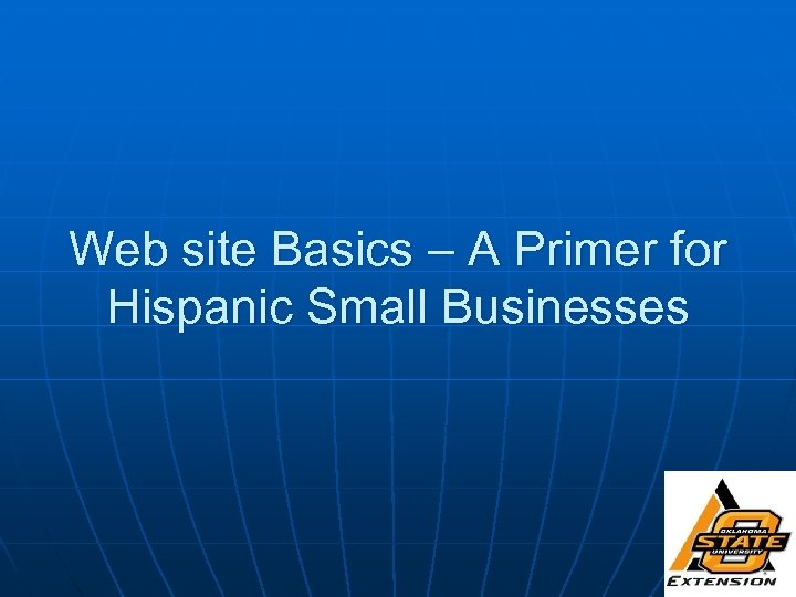 Web site Basics – A Primer for Hispanic Small Businesses