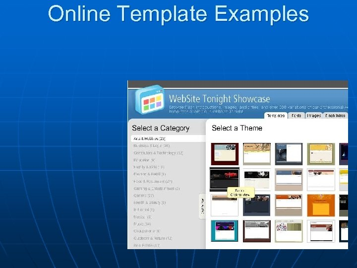 Online Template Examples