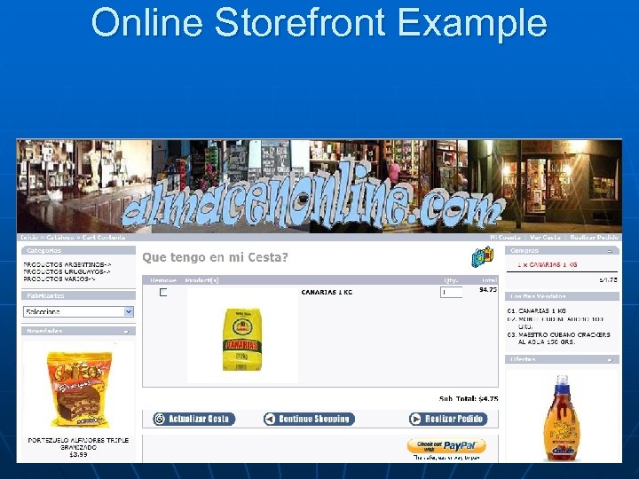Online Storefront Example