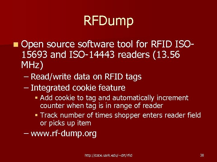 RFDump n Open source software tool for RFID ISO 15693 and ISO-14443 readers (13.