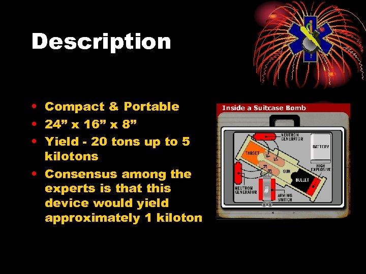 """Description • Compact & Portable • 24"""" x 16"""" x 8"""" • Yield -"""