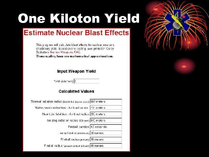One Kiloton Yield