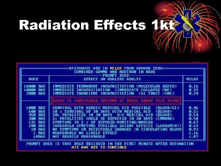 Radiation Effects 1 kt
