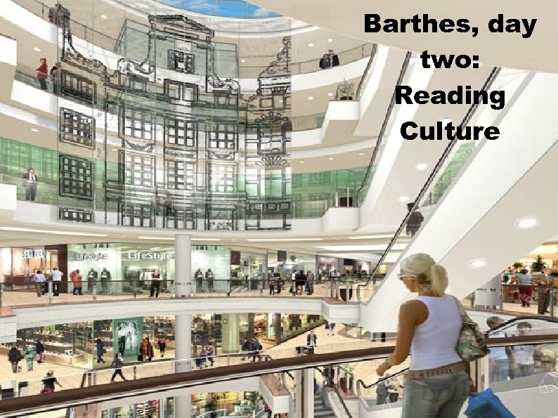 Barthes, day two: Reading Culture