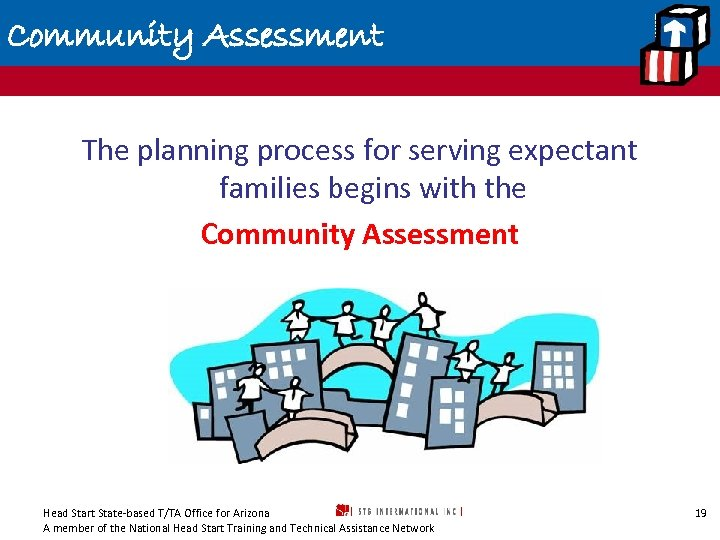 Community Assessment The planning process for serving expectant families begins with the Community Assessment