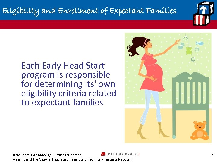 Eligibility and Enrollment of Expectant Families Each Early Head Start program is responsible for