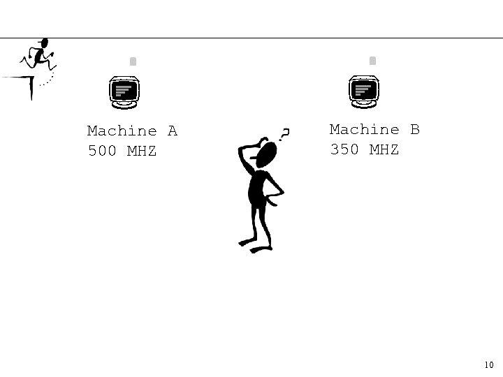 Machine A 500 MHZ Machine B 350 MHZ 10