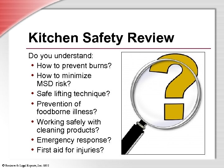 Kitchen Safety Review Do you understand: • How to prevent burns? • How to