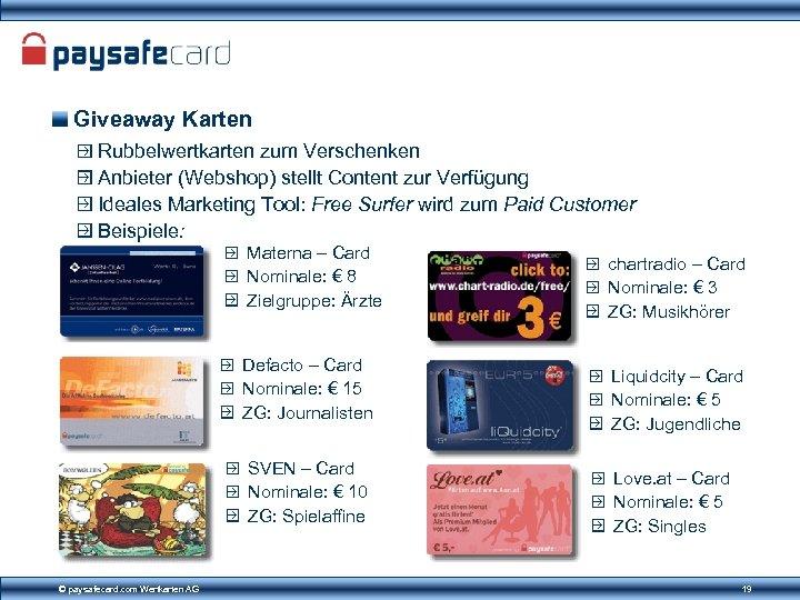 Giveaway Karten Rubbelwertkarten zum Verschenken Anbieter (Webshop) stellt Content zur Verfügung Ideales Marketing Tool: