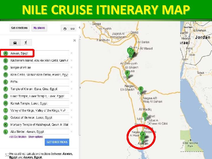 NILE CRUISE ITINERARY MAP 52